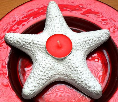 Sádrová hvězdice - svíce