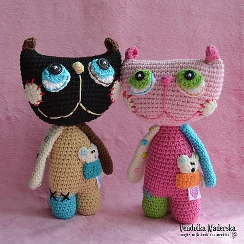 Kočka Líza - návod na háčkování