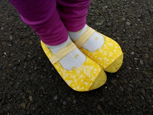 dívčí žluté balerínky