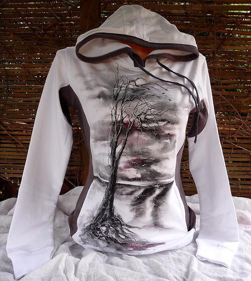 Ručně malovaná mikina, gothic