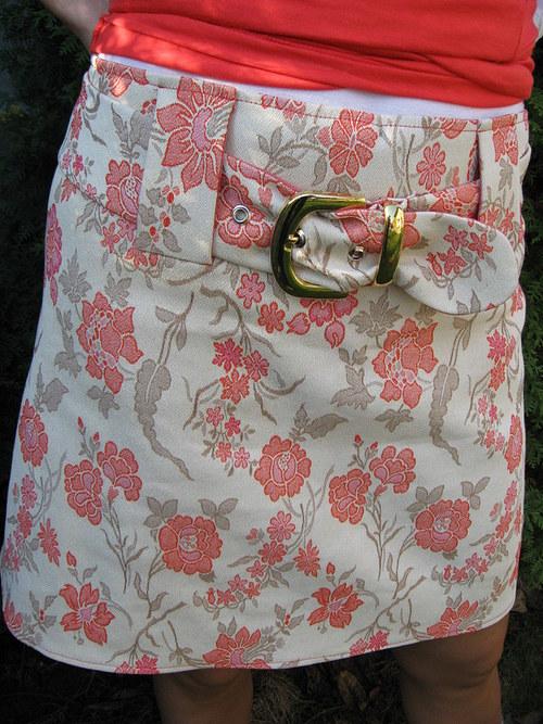 deadia sukně květovaná