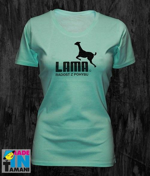 Dámské mentolové tričko s Lamou