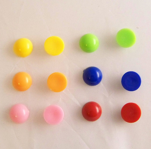Akryl. čočka PASTEL vyšší/ oranžová/ 14mm/ 2ks