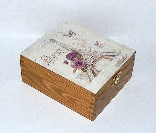 Krabička na čajíky nebo šperkovnice Paris
