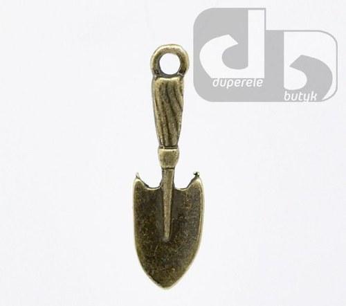 Bronzový přívěšek - lopatka 22 x 6 mm 2 ks