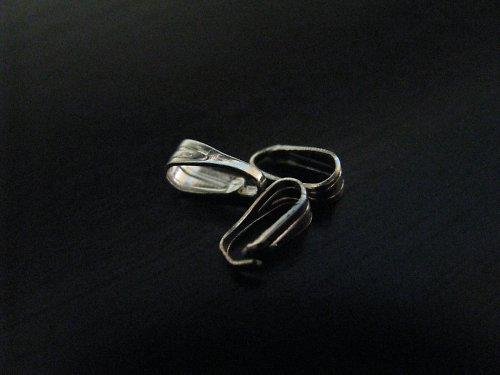 Šlupna - stříbrná - 8mm - 10ks