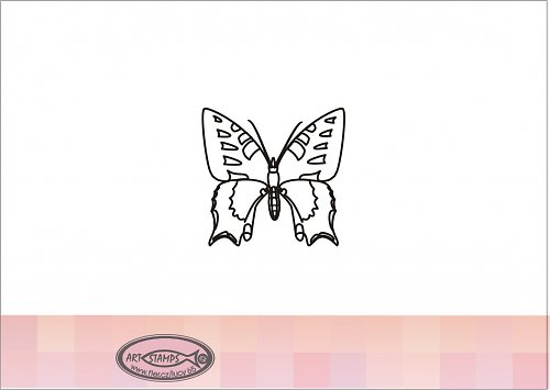 Razítko motýla