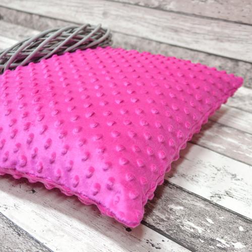 Polštář MINKY růžový 40 x 40 cm