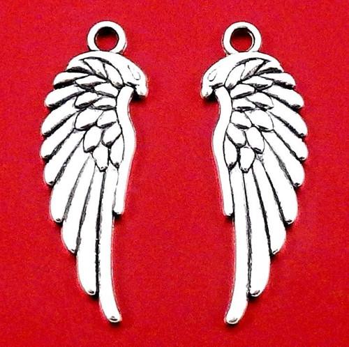 Starostříbrný přívěsek - andělská křidélka, 2 kusy