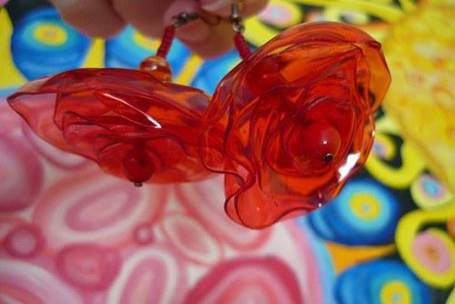 Náušnice z petky Vášeň v růžích