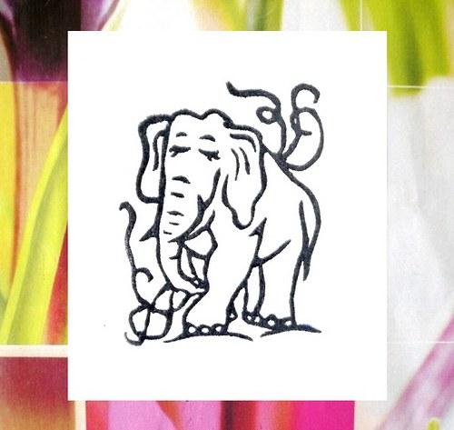 Slon... Omyvatelné razítko.
