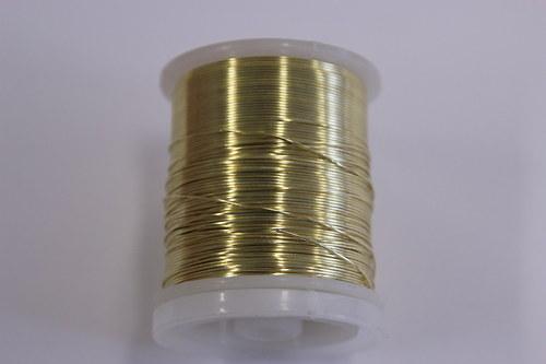 Měděný drátek 0,8mm - champagne, návin 8,5-9m