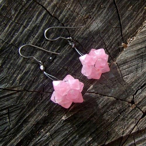 Koulování s růžovými lucerničkami-háček chir. ocel