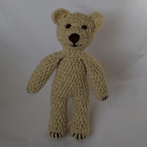 Háčkovaný medvídek béžový Ferda