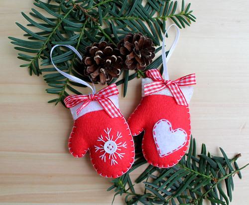 Vánoční ozdoby - rukavičky