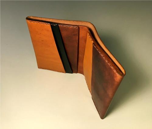 Kožená peněženka s kapsou na bankovky