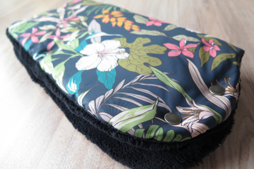 Rukávník na kočárek - Khaki květy