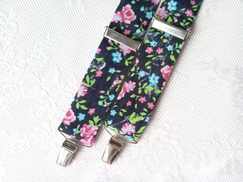 Vintage flowers suspenders