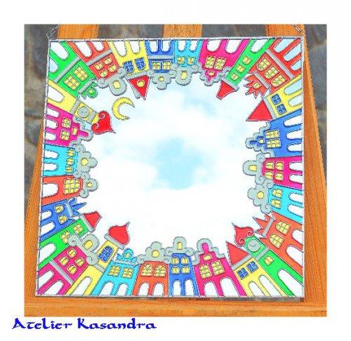 Zrcadlo malované 30x30 cm