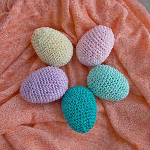 Háčkovaná vajíčka  barevná