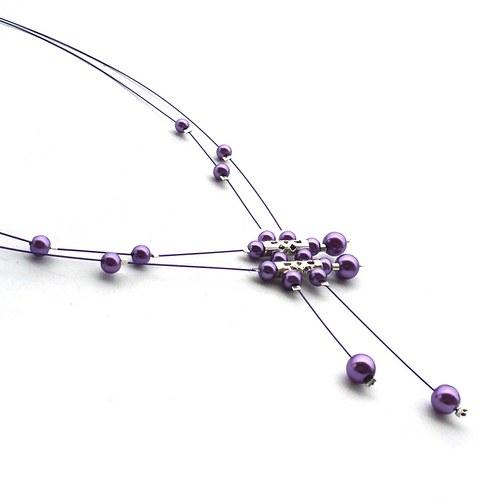 Světle fialový perličkový deštík