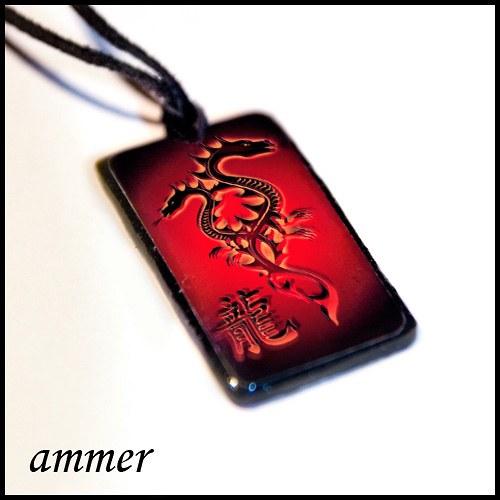 Náhrdelník Drak (červený) na přání