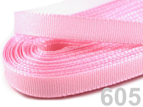 Stuha taftová šíře 6 mm - světle růžová