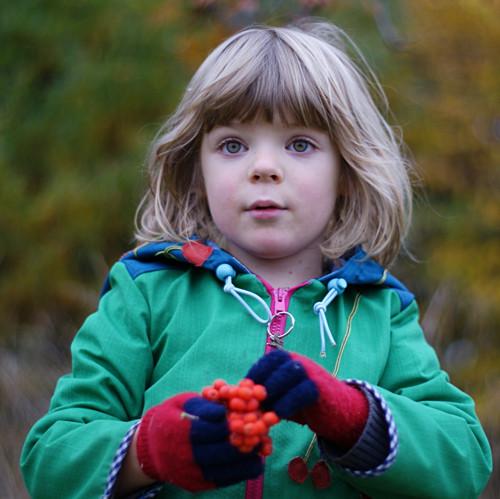 Podzim vlesní školce softshell bunda