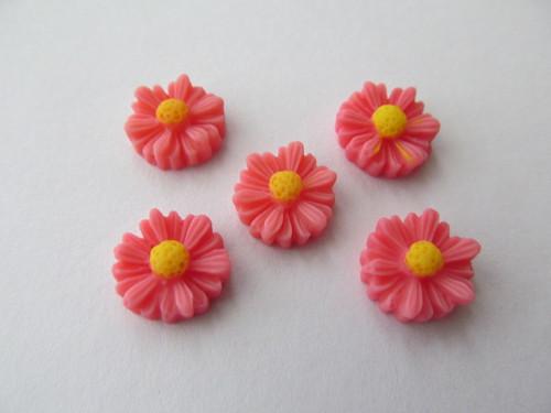 Kabošon květ - růžová - 10 mm - 5 ks/bal.