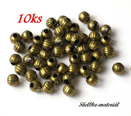 1850.Kovové korálky/ 6mm/ 10 kusů