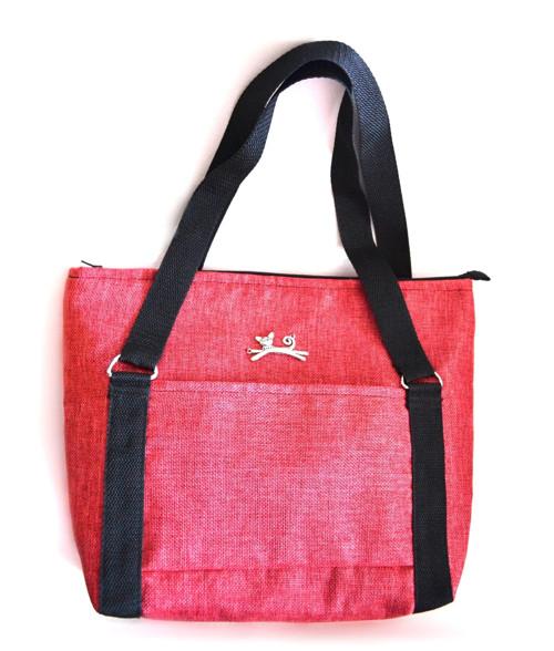 Červená velká kabelka