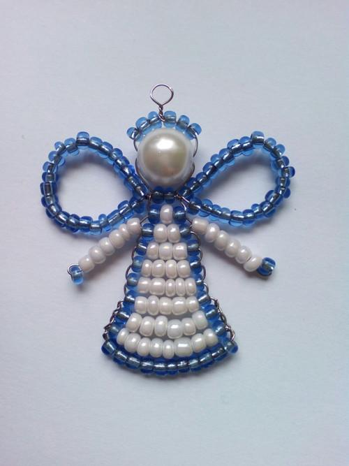 Andělíček modro bílý