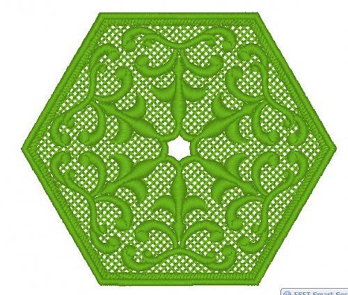 Podšálek hexagon