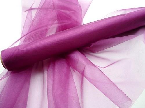 Organza fialová neobroubená (barva č. 12)