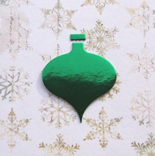 Vánoční baňka plošná (menší)