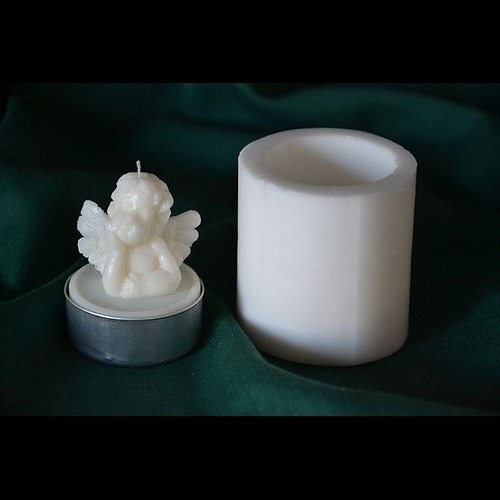 Silik. forma na čajovou svíčku - Andělíček
