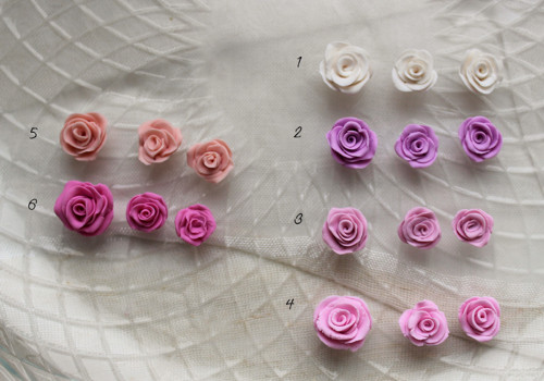 Rose - fimo sada barva podle přání