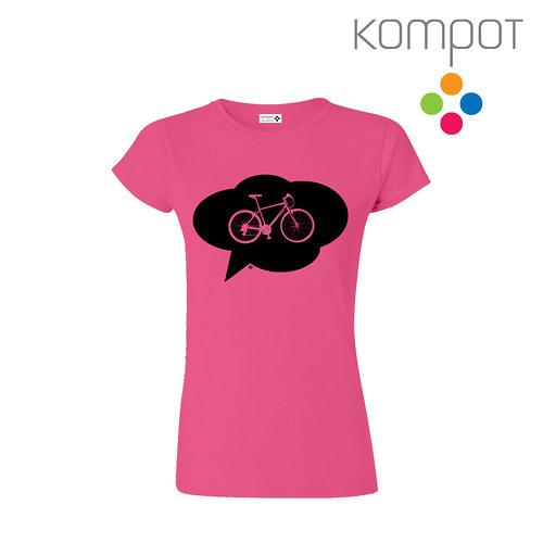 Dámské tričko s KOLEM :: růžové vel. S-XXL