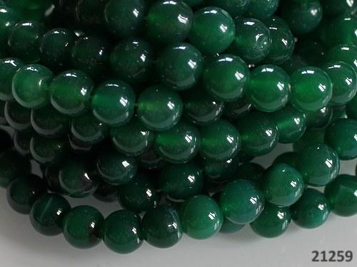 21259 Smaragdově zelený ACHÁT, kuličky 10mm á 5ks!