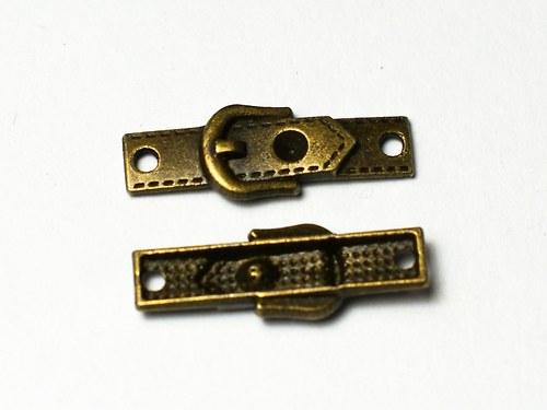 2ks kovový přívěsek 8x24mm