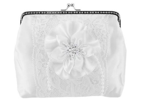 Dámská kabelka bílá, svatební kabelka E1