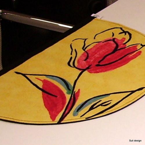 polokulaté prostírání-tulipány