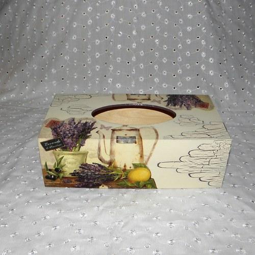 Kapesníkovník - levandulové zátiší s konvičkou