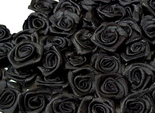RŮŽIČKY 15mm černé