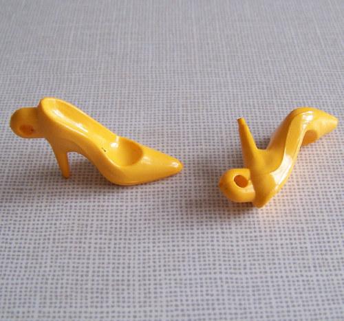Přívěsek lodičky neprůhl/ žlutá / 35x15mm/ 20ks