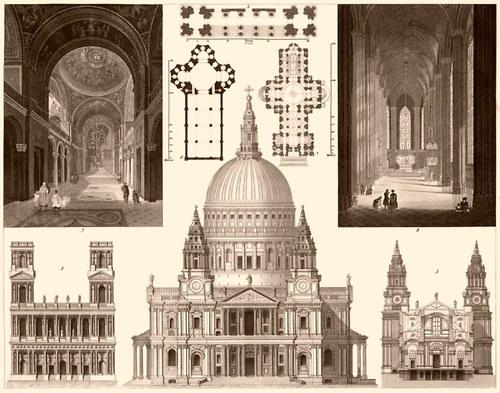Architektura, katedrála s. Pavla v Londýně