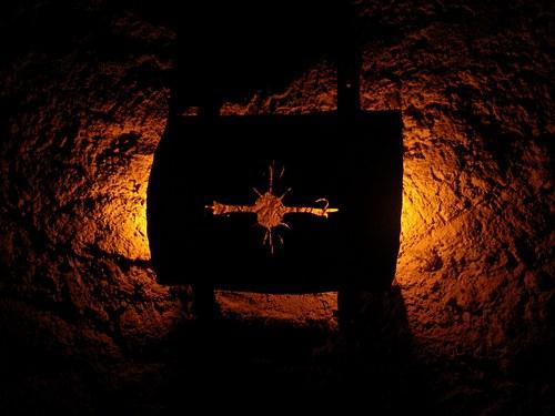 kované stínítko