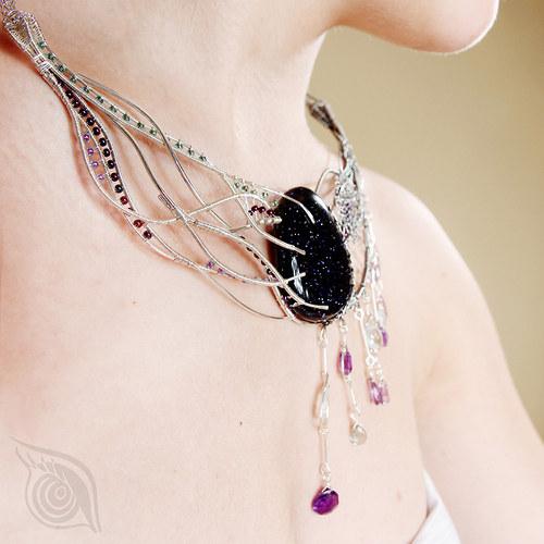Letní bouřka (náhrdelník)