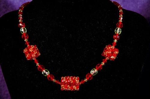 Náhrdelník Crystal červený