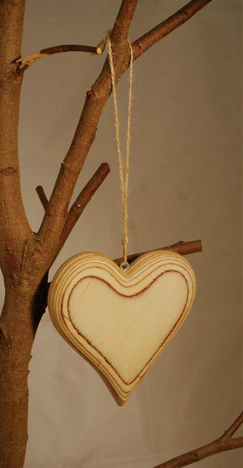 Srdce ze dřeva - srdce z lásky - bříza